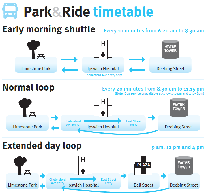 Park and Ride timetable