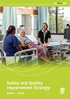 Safety and quality improvement strategy 2020-23 cover