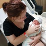 Jessica Bauer with baby Avah Rutch born 5 May.